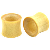 "Crocodile Wood Double Flared Tunnel Plugs (2g-1"")"