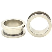 "Classic Steel Screw Fit Tunnels Ear Plugs (14g-1"")"