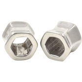 "Steel Hexagon Shaped Ear Tunnel Plugs (2g-5/8"")"