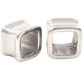 "Steel Square Shaped Ear Tunnel Plugs (2g-5/8"")"