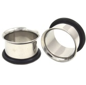 "Steel Single Flared Ear Tunnel Plugs (10g-1"")"