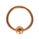 Rose Gold Plated Captive Bead Ring CBR 16G (4 Sizes)