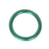Green Steel Segment Ring Seamless Hoop 14G (2 Sizes)