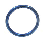Blue Steel Segment Ring Seamless Hoop 16G (2 Sizes)