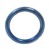 Blue Steel Segment Ring Seamless Hoop 14G (2 Sizes)