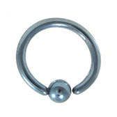 Light Blue Fixed Ball Captive Bead Ring CBR 16G 5/16""