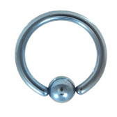 Light Blue Fixed Ball Captive Bead Ring CBR 14G 3/8""