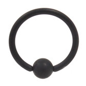 Black Matte Captive Bead Ring CBR 14G (2 Sizes)