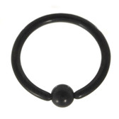 Black Fixed Ball Captive Bead Ring CBR 16G (4 Sizes)