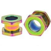 "Rainbow Color Steel Hexagon Screw Tunnels (8g-1/2"")"