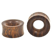 "Snake Skin Wood Organic Tunnel Plugs (0g-1"")"