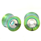 "Green Titanium/Steel 2 in 1 Screw Tunnels (0g-1"")"