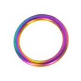 Rainbow Segment Ring Seamless Hoop 14G (4 Sizes)