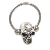 Scary Skull Head Captive Bead Ring CBR (16g/14g)