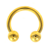 Gold Plated Horseshoe Circular 14G (2 Sizes)