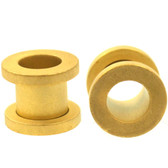 "Gold Plated Matte Screw Fit Tunnel Plugs (8g-1"")"