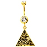 All Seeing Eye of Providence Gold Plated Belly Ring