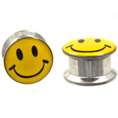 "All Smiles Happy Face Screw Fit Steel Plugs (8g-5/8"")"