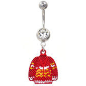 The Ugly Christmas Sweater Belly Button Ring