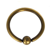 Brass Plated Captive Bead Ring CBR 16G 3/8""