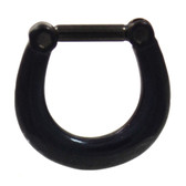 Black Titanium Plated Septum Clicker (16G/14G)