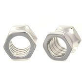 "Stainless Steel Hex Nut Ear Plug Tunnels (2g-5/8"")"