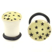 "GID Dark Starry Night Single Flared Plugs (6g-5/8"")"