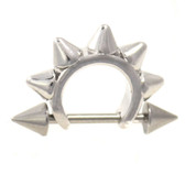 Edgy Spiked Cartilage Cuff Piercing 16g 1/2""