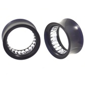 "Radiant Clear Gems Interior Acrylic Tunnel Plugs (0g-1"")"