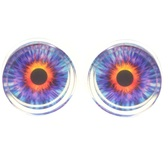 "Fiery Eyeball Clear Acrylic Plugs (2g-15/16"")"