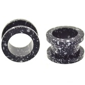 "Black/White Crazy Paint Screw Tunnel Plugs (8g-5/8"")"
