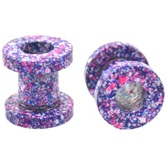 "Purple/Pink/Blue Crazy Paint Tunnels (8g-5/8"")"