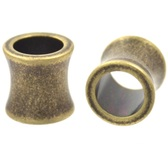 "Antique Steel Saddle Fit Tunnels Ear Plugs (8g-1"")"