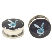 "Floating In Space Playboy Bunny Screw-on Plugs (2g-1"")"