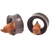 Sono/Sawo Wood Dolphin Tunnels (19mm-35mm)