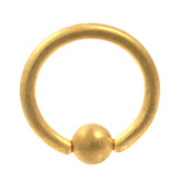 Gold Matte Captive Bead Ring CBR 14G (4 Sizes)