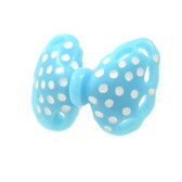 Light Blue Polka Dot Bow Cartilage Earring Stud 18g