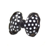 Black/White Polka Dot Bow Cartilage Earring Stud 18g
