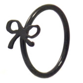 Black Plated Ribbon Nose Hoop Ring 20 Gauge 5/16""