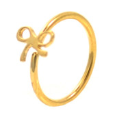 Gold Plated Ribbon Nose Hoop Ring 20 Gauge 5/16""