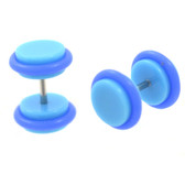 Baby Blue Acrylic Fake Plug Earrings (0g Look)