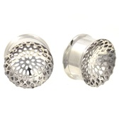 "Buddhist Mandala Steel Screw Fit Tunnels (0g-1"")"