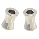 "Polished Steel Saddle Fit Tunnels Ear Plugs (8g-1"")"