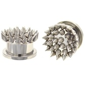 "Metal Spikes Steel Screw-On Plugs (0g-5/8"")"