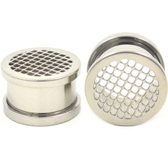 "Steel Honeycomb Screw Ear Plug Tunnels (2g-5/8"")"