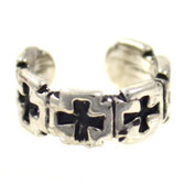 Iron Cross Row Non Piercing Ear Cuff Earring