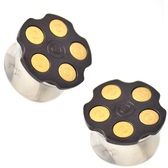 "Gold Bullet Loaded Revolver Saddle Plugs (0g-5/8"")"