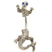 Blue Eyed Chameleon Split Style Belly Ring