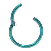 Green Hinged Segment Ring Hoop 16G (3 Sizes)