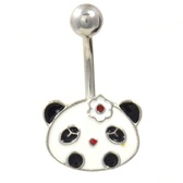Pretty Girl Panda Non-Dangle Belly Ring